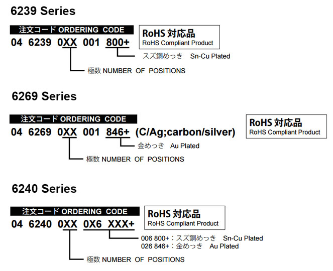 6239-6269-6240 Series FPC/FFC Connectors