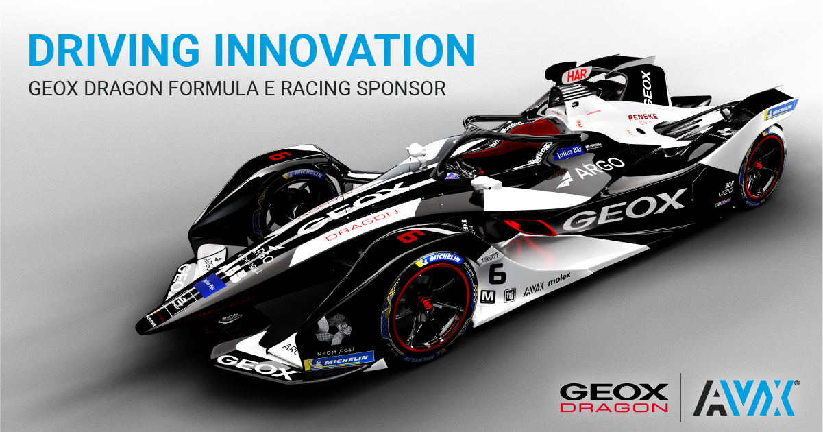AVX is Sponsoring GEOX Dragon Formula E for Second Straight Year