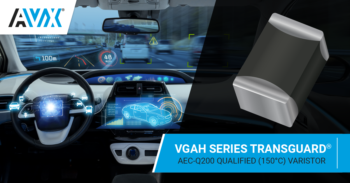 VGAH Series AEC-Q200 Qualified TransGuard® Multilayer Varistor