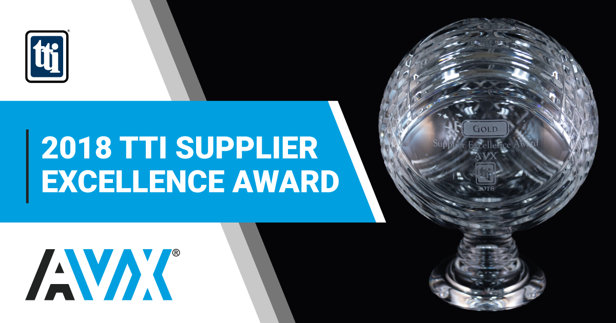 2018 TTI Supplier Excellence Aeard