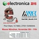 AVX is Exhibiting at Electronica 2016