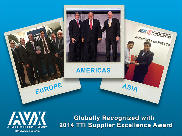 Globally Recognized 2014 TTI Supplier Excellence Award